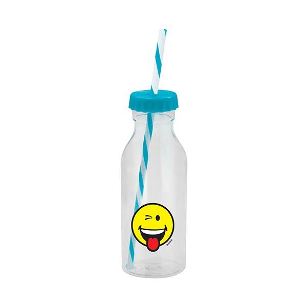 Bouteille soda avec paille - SMILEY