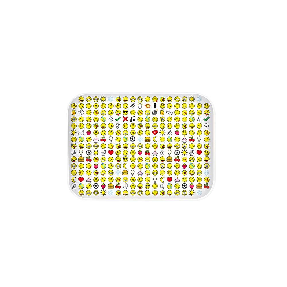 SMILEY - Plateau 28 x 20 cm - blanc