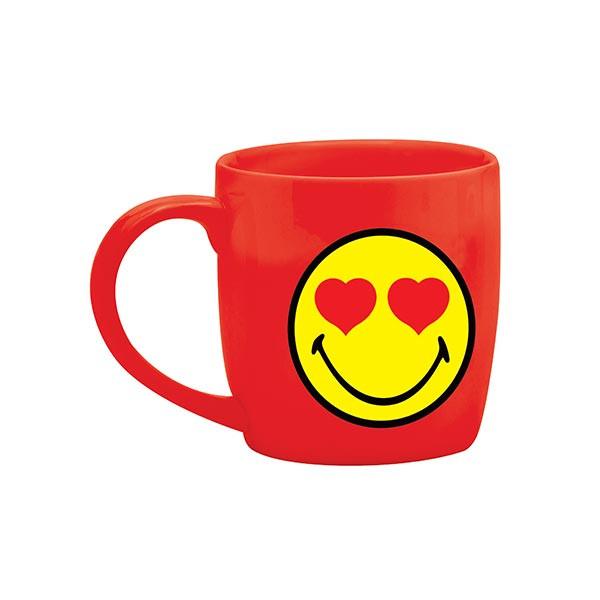 Mug thé 35cl - porcelaine rouge/amoureux - SMILEY