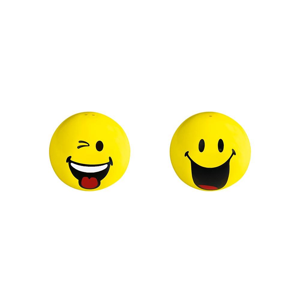 SMILEY - Set salière & poivrière - clin d'œil/heureux