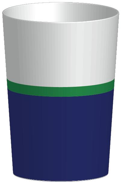 RIVIERA - Verre 30 cl - Bleu/blanc