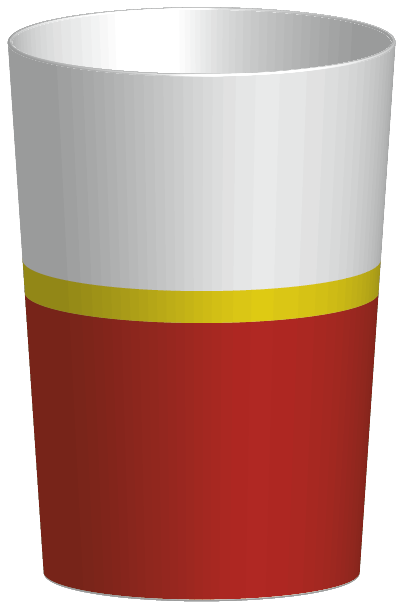 RIVIERA - Verre 30 cl - Rouge/blanc