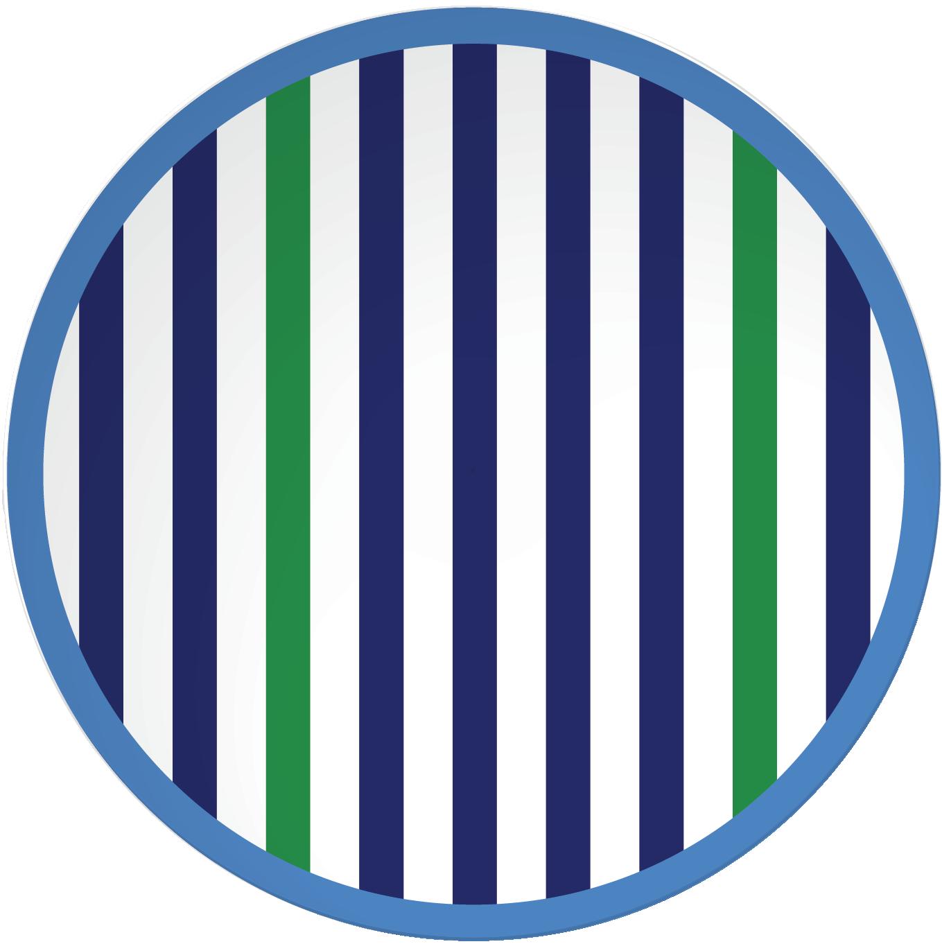 RIVIERA - Set de 4 assiettes 20,5 cm - Bleu/blanc