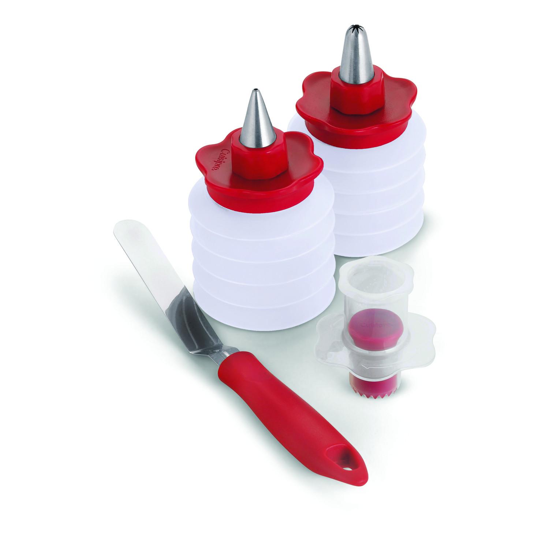 Kit décoration pâtisserie - rouge