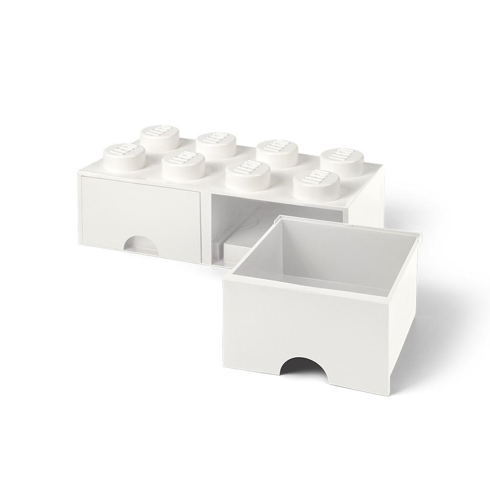 Brique de rangement 8 à tiroirs - blanc