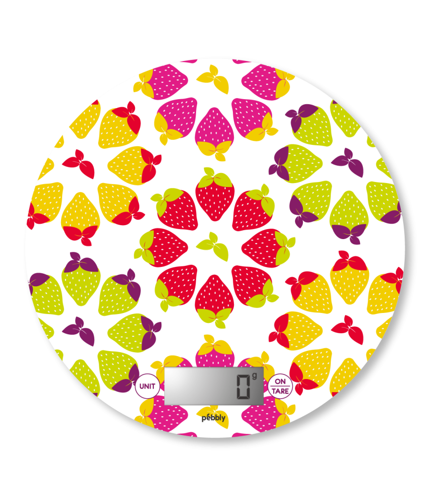 Balance de cuisine électronique ronde - fraises