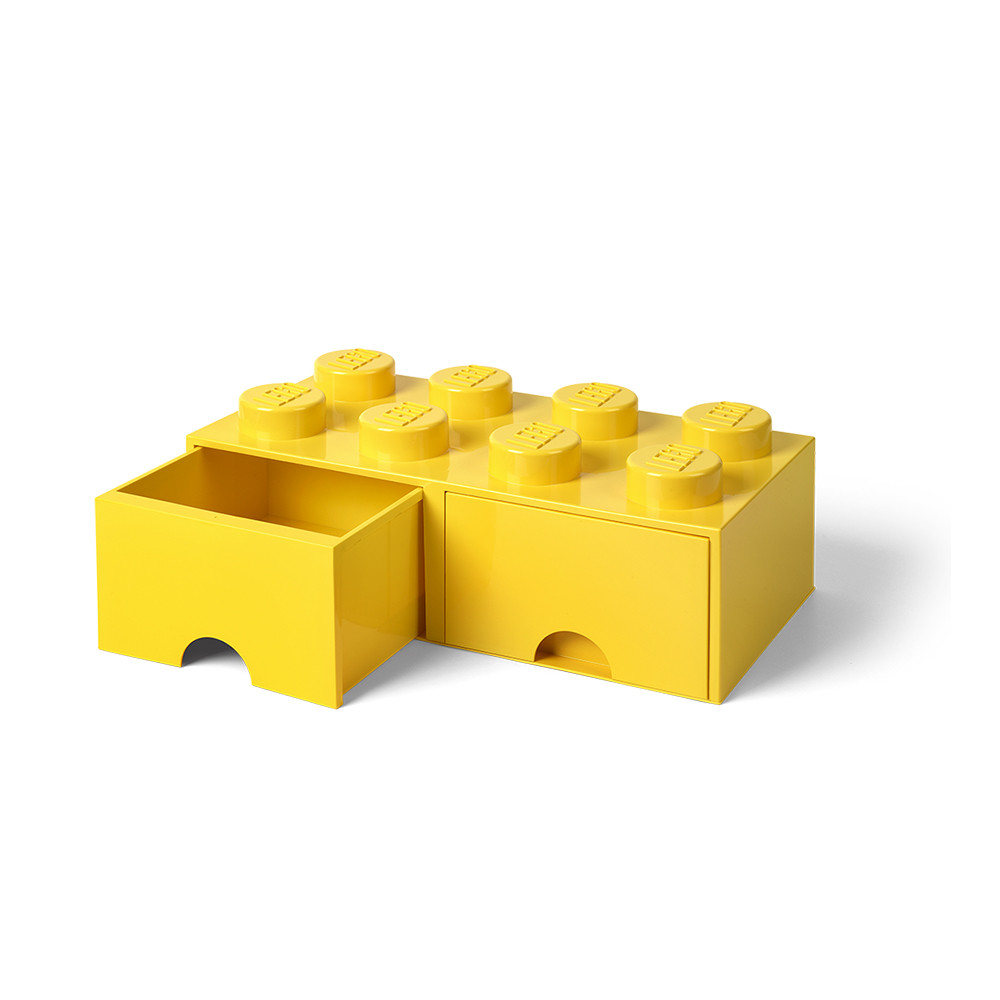 Brique de rangement 8 à tiroirs - jaune