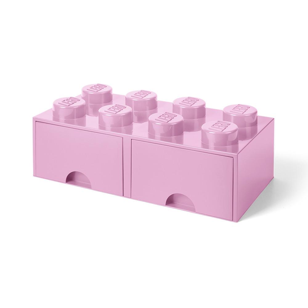 Brique de rangement 8 à tiroirs - rose