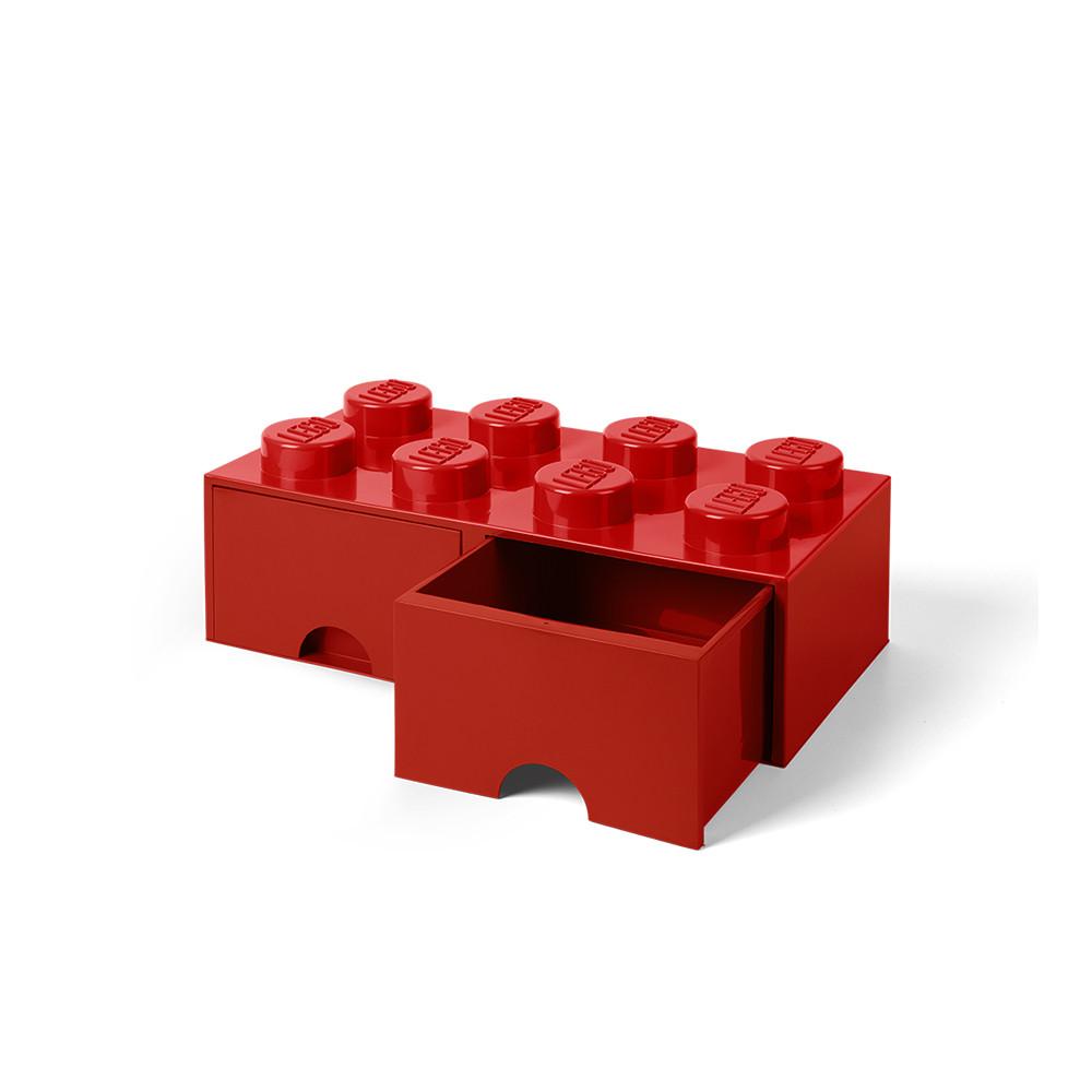 Brique de rangement 8 à tiroirs - rouge