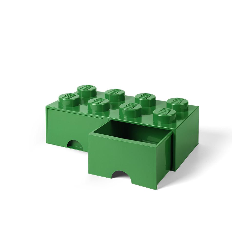 Brique de rangement 8 à tiroirs - vert