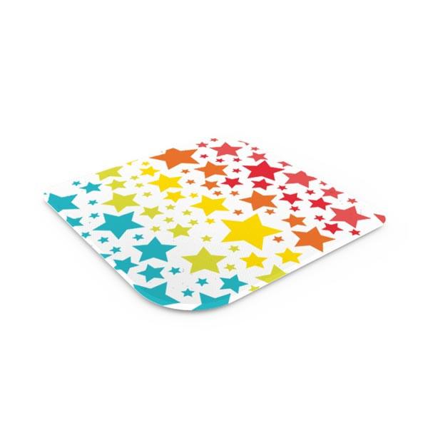 Dessous de plat en verre trempé - star rainbow
