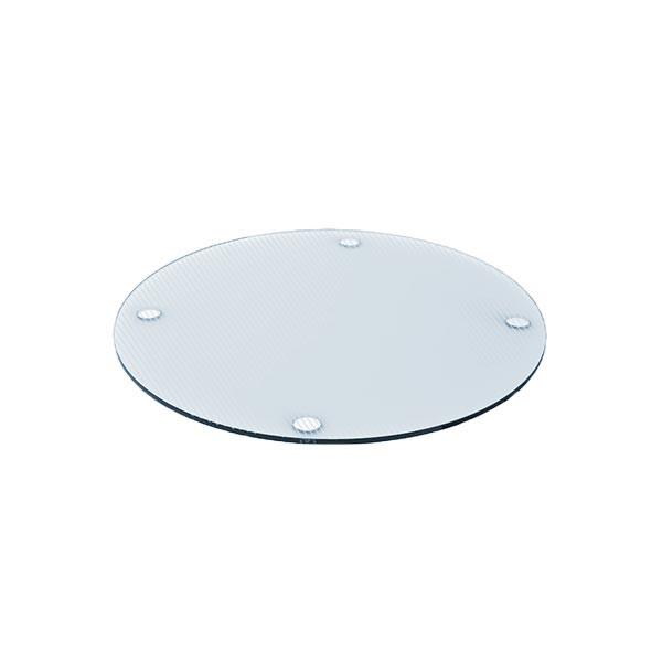 Planche en verre multifonction ronde - transparent