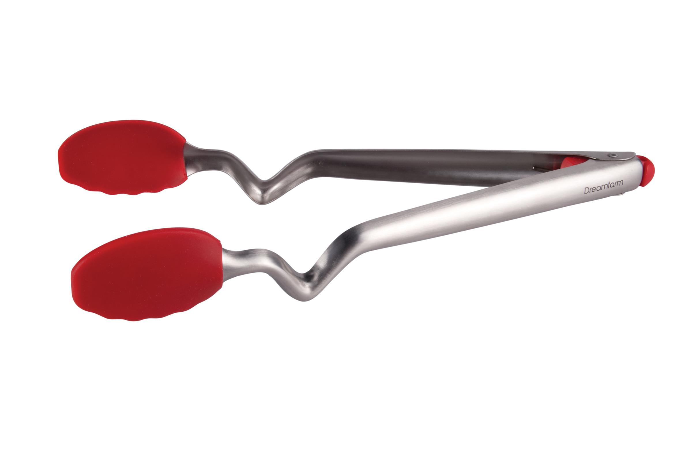 Clongs - Pince verrouillable 30 cm silicone avec reposoir intégré - rouge