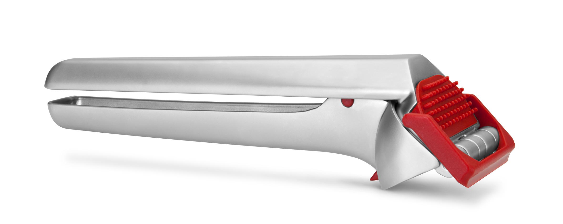 Garject - Presse-ail avec racloir intégré en acier - rouge