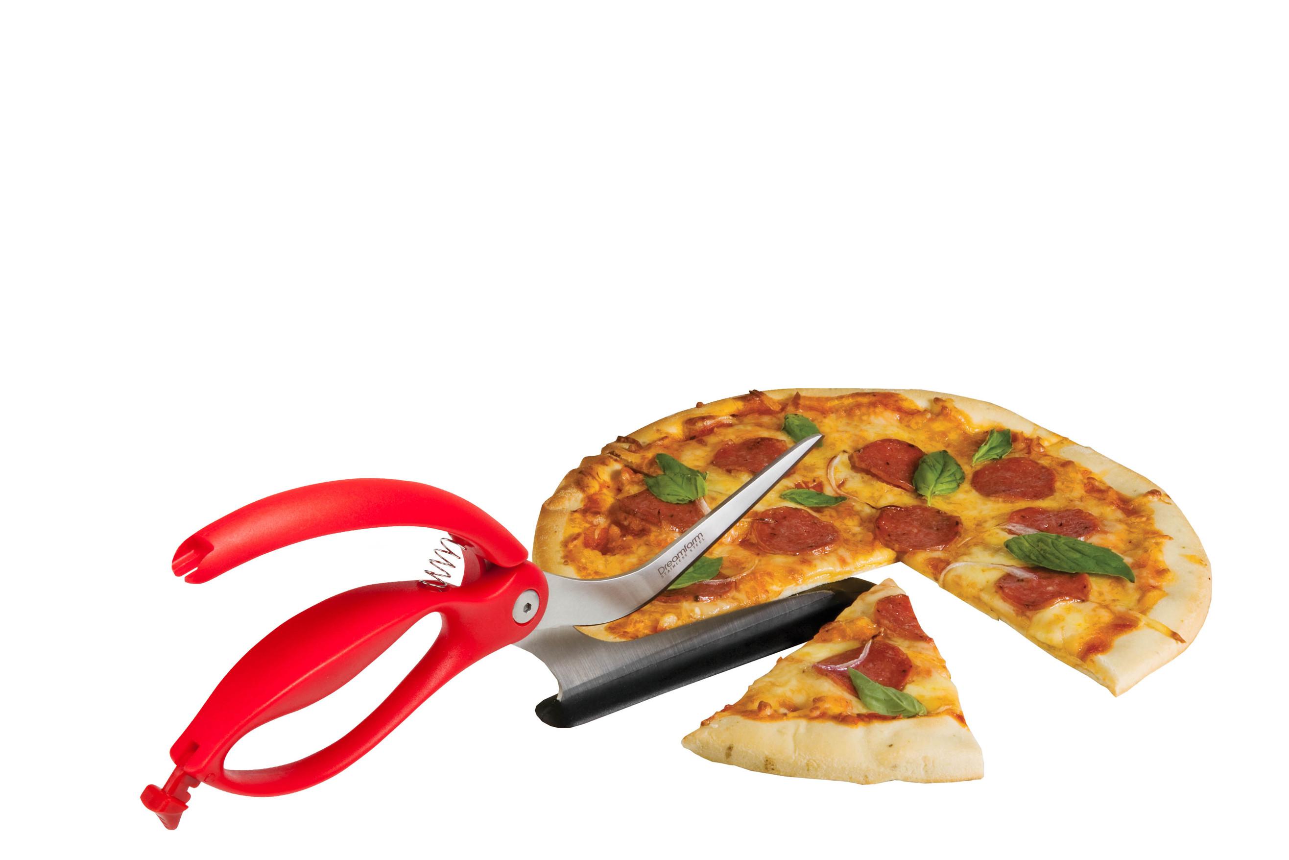 Scizza - 2 en 1 ciseau/pelle à pizza - rouge