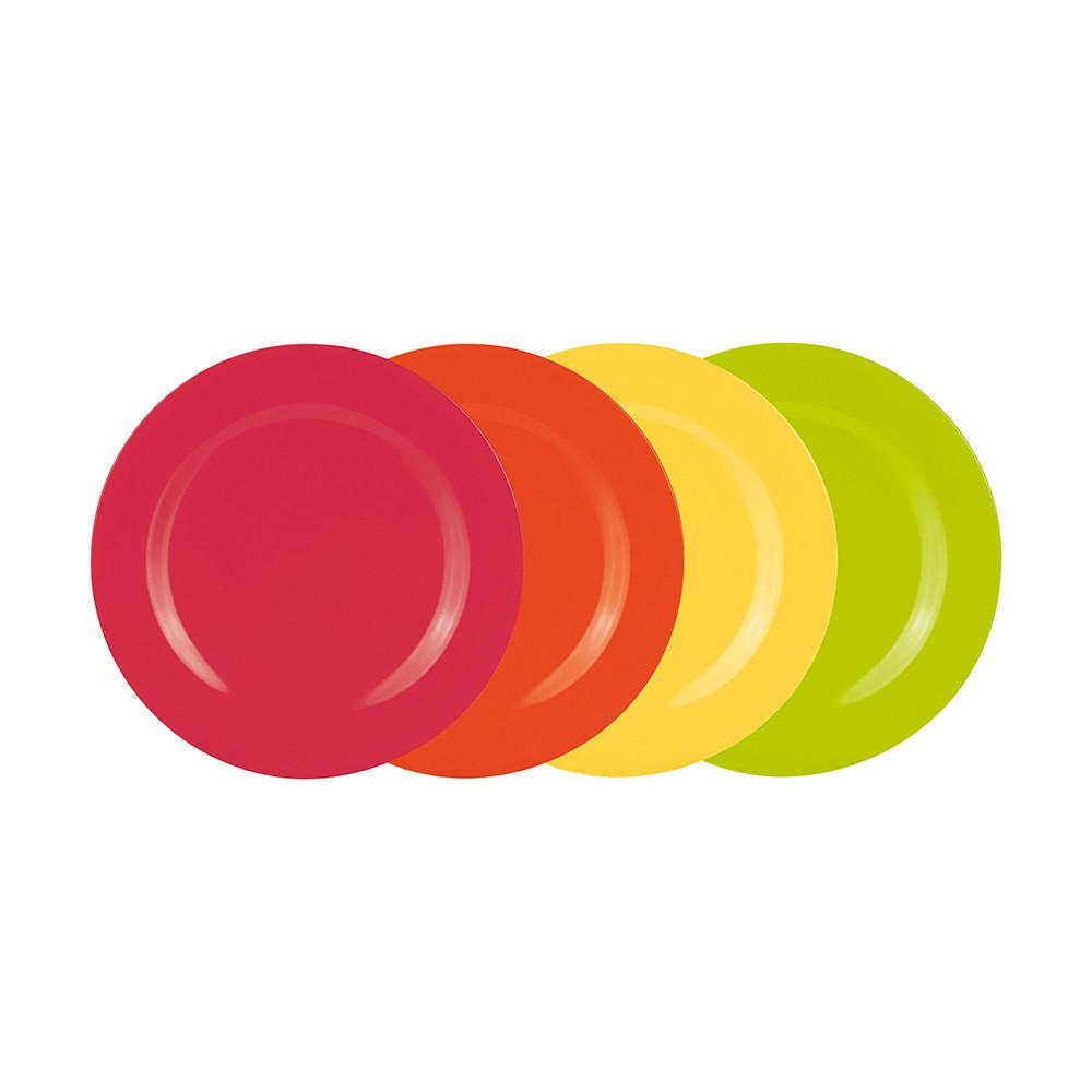 BBQ - Set de 4 assiettes 28 cm - hot pop