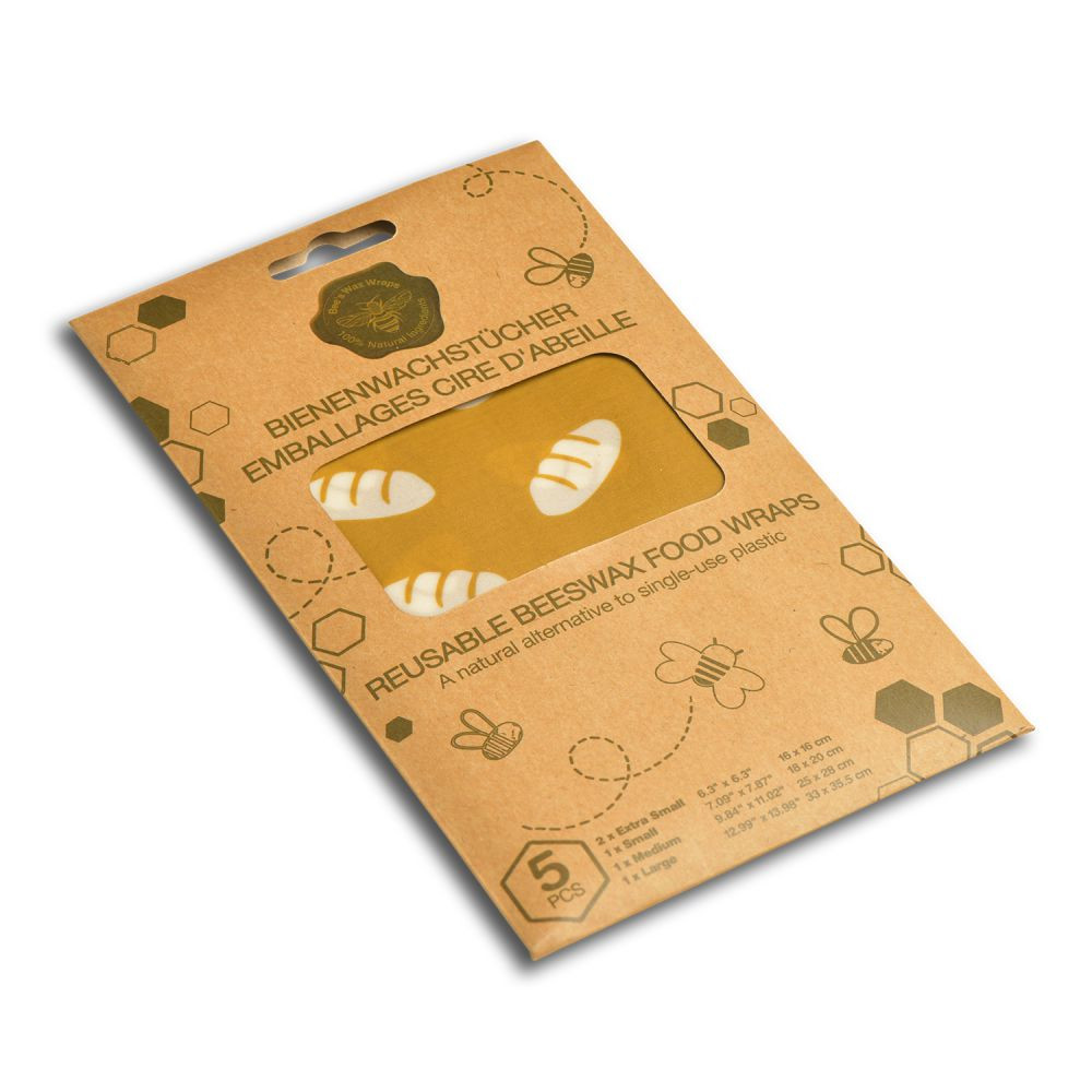 Set de 5 feuilles emballage alimentaire