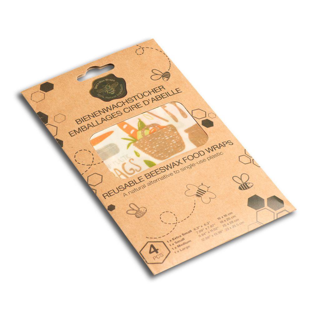 Set de 4 feuilles emballage alimentaire