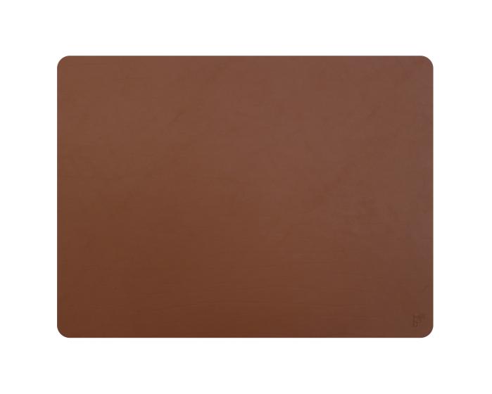 Set de table cuir recyclé rectangulaire