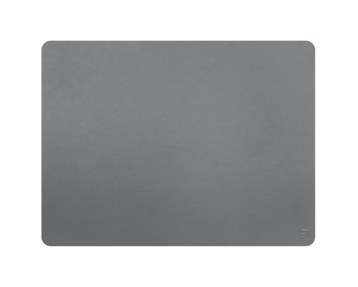 Set de table cuir recyclé rectangulaire - gris