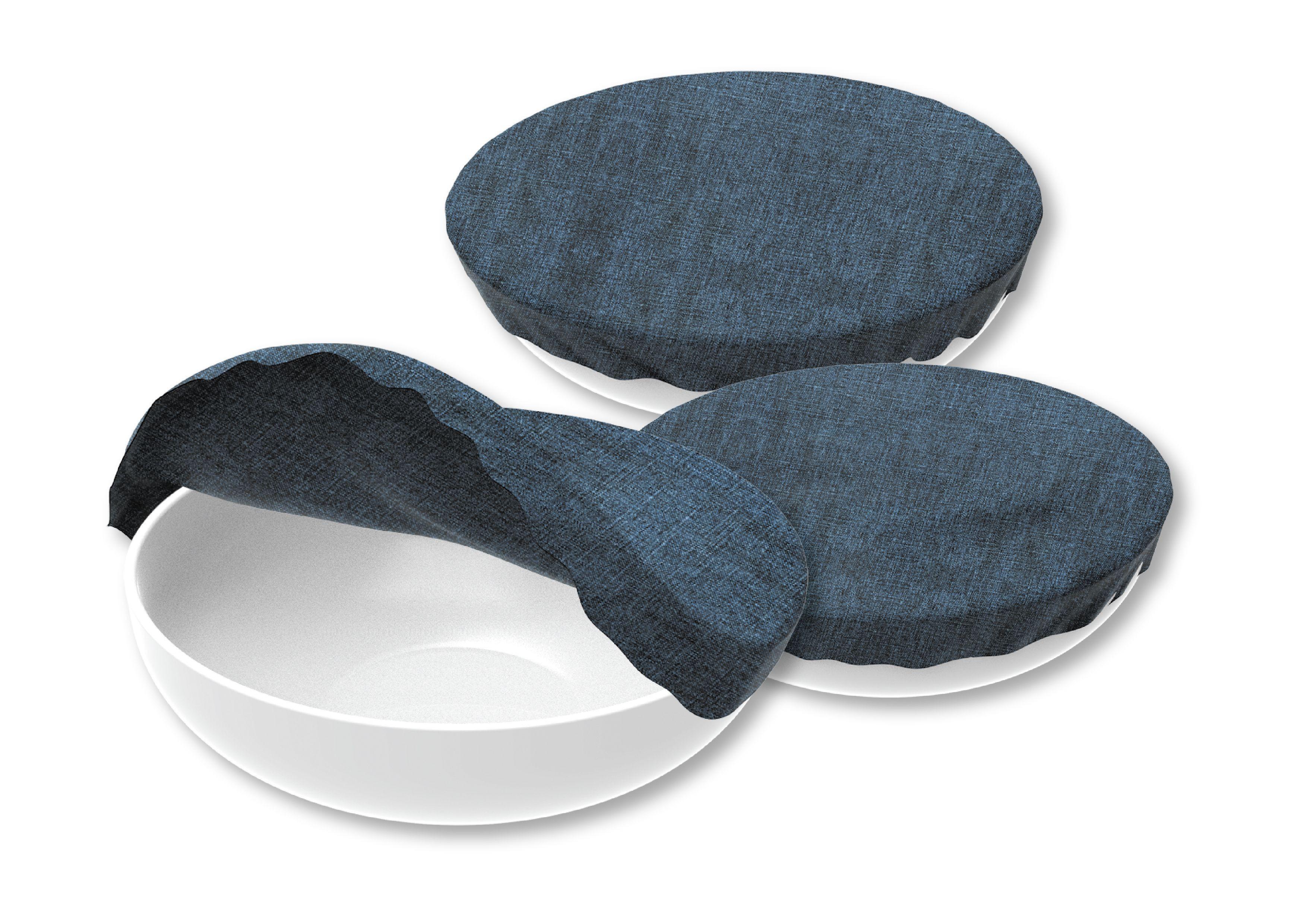 Set de 3 couvre-bols  100% coton (sans cire d'abeilles)