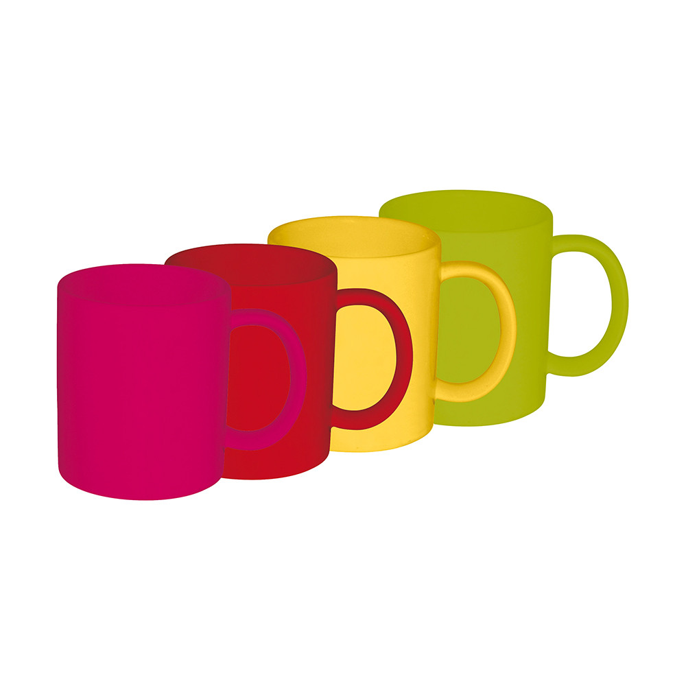 BBQ - Set de 4 mugs - hot pop