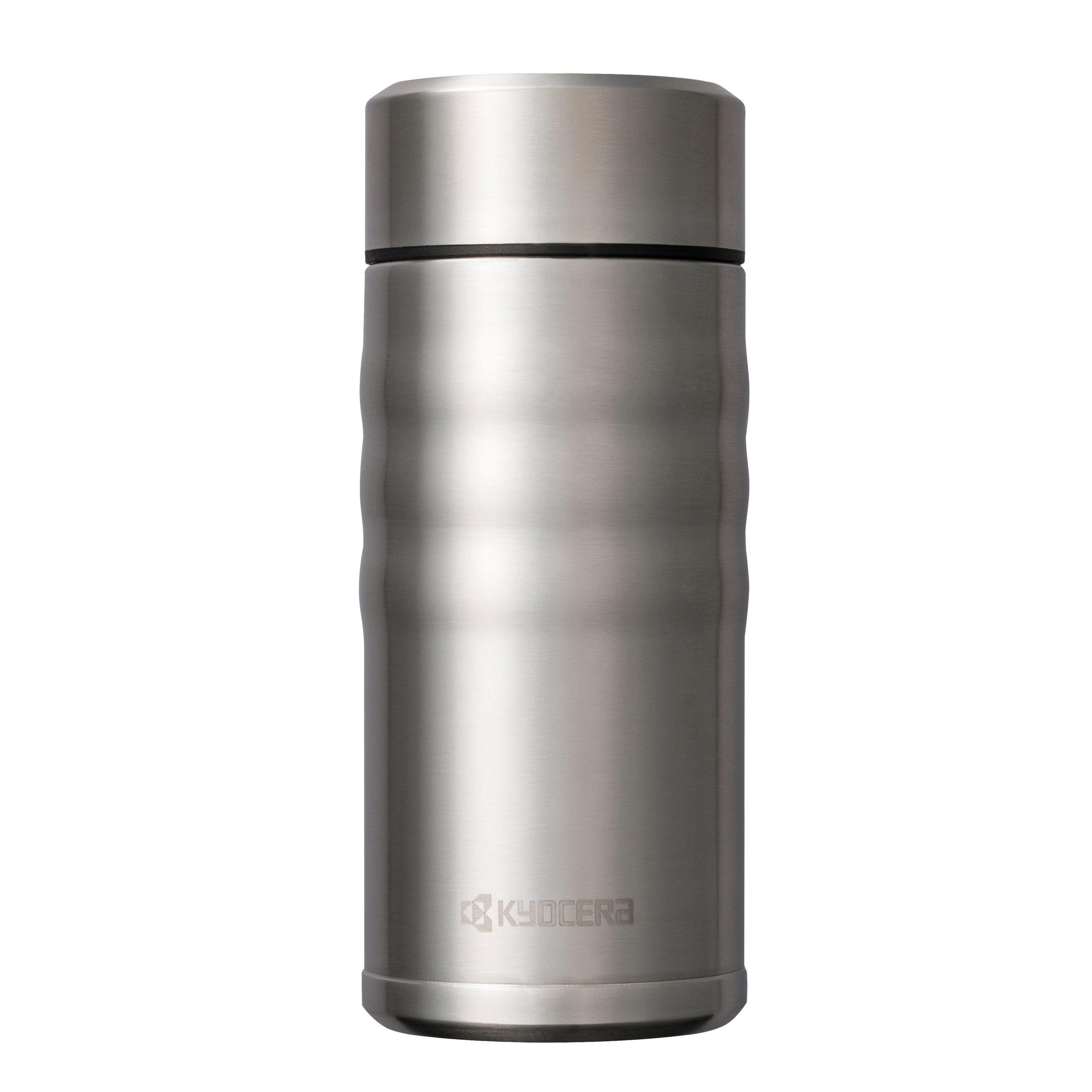 CERAMUG - Mug isotherme bouchon twist 350 ml - inox