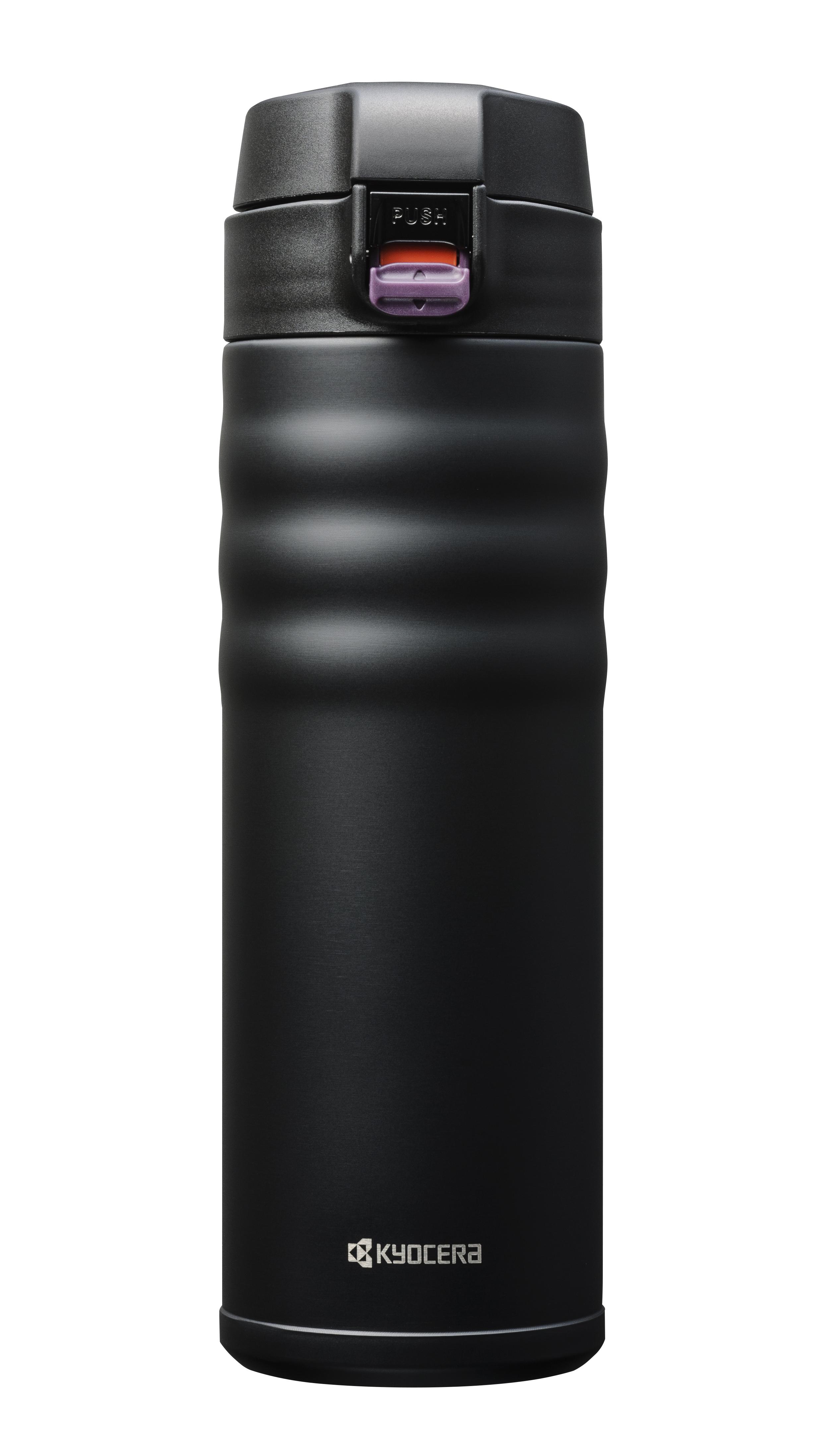 CERAMUG - Mug isotherme bouchon flip 500 ml - noir