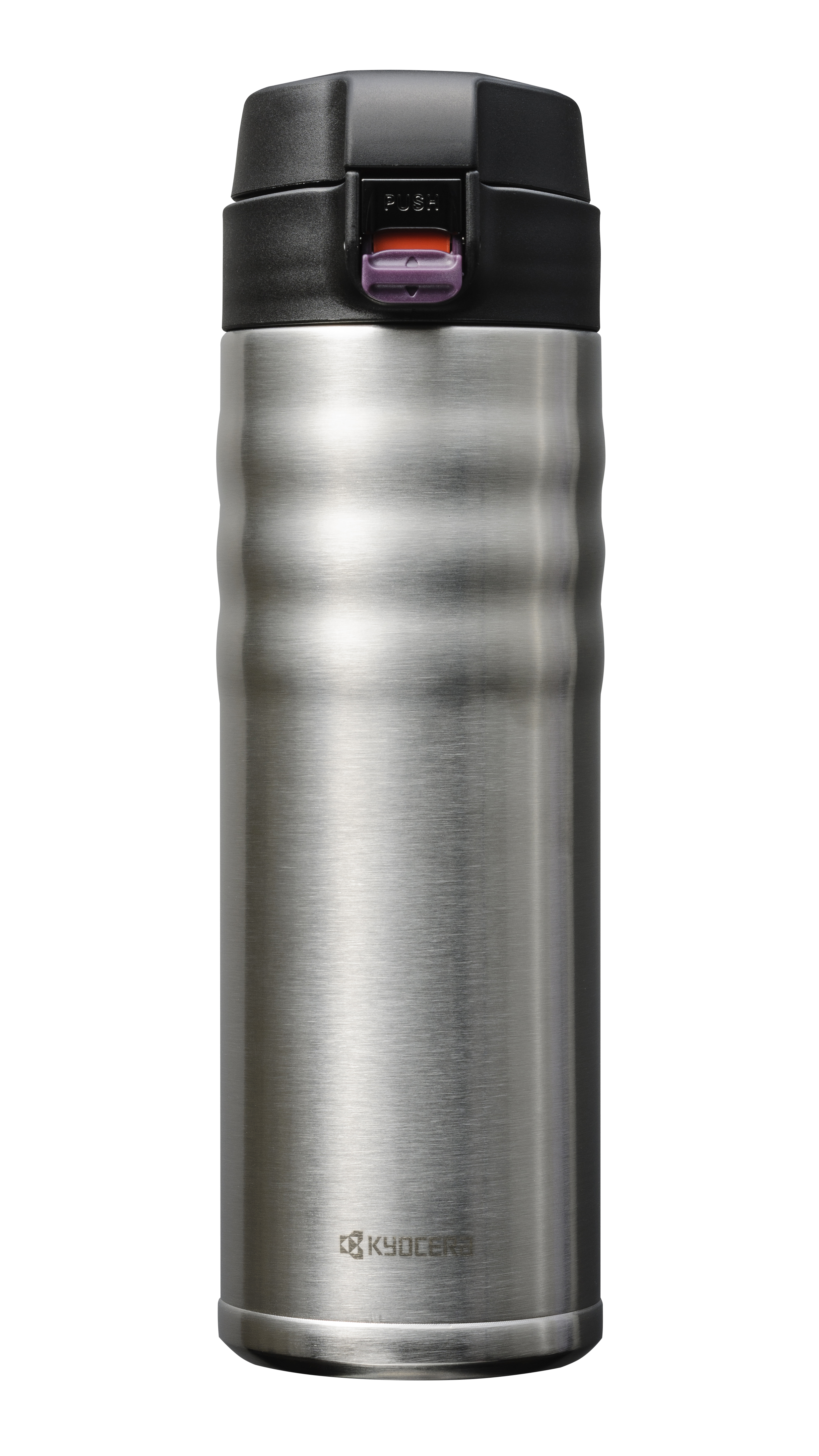 CERAMUG - Mug isotherme bouchon flip 500 ml - inox