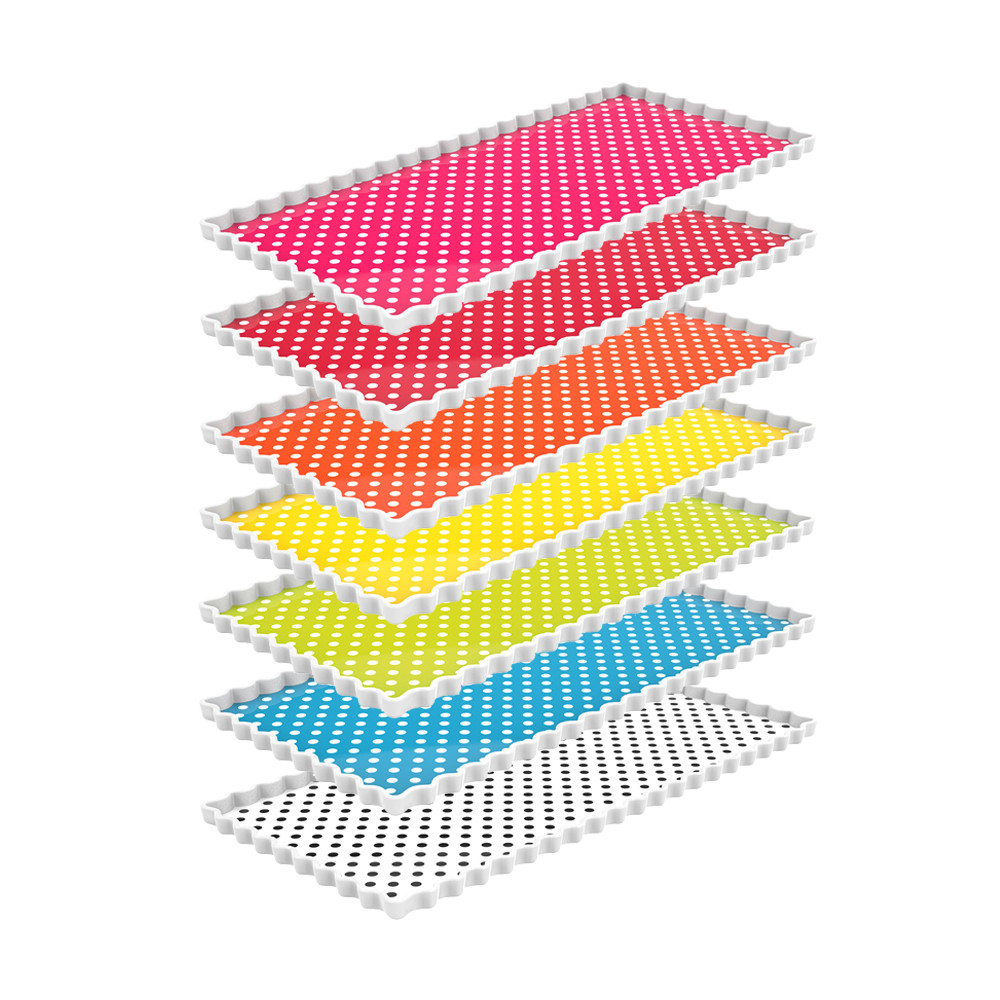 Plats à cake rectangulaires en 7 couleurs - PACK MULTICO