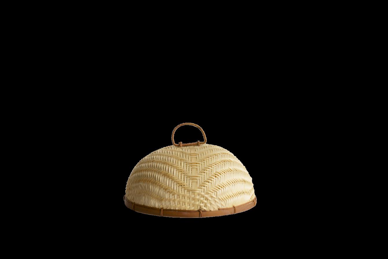 Cloche en bambou tressé