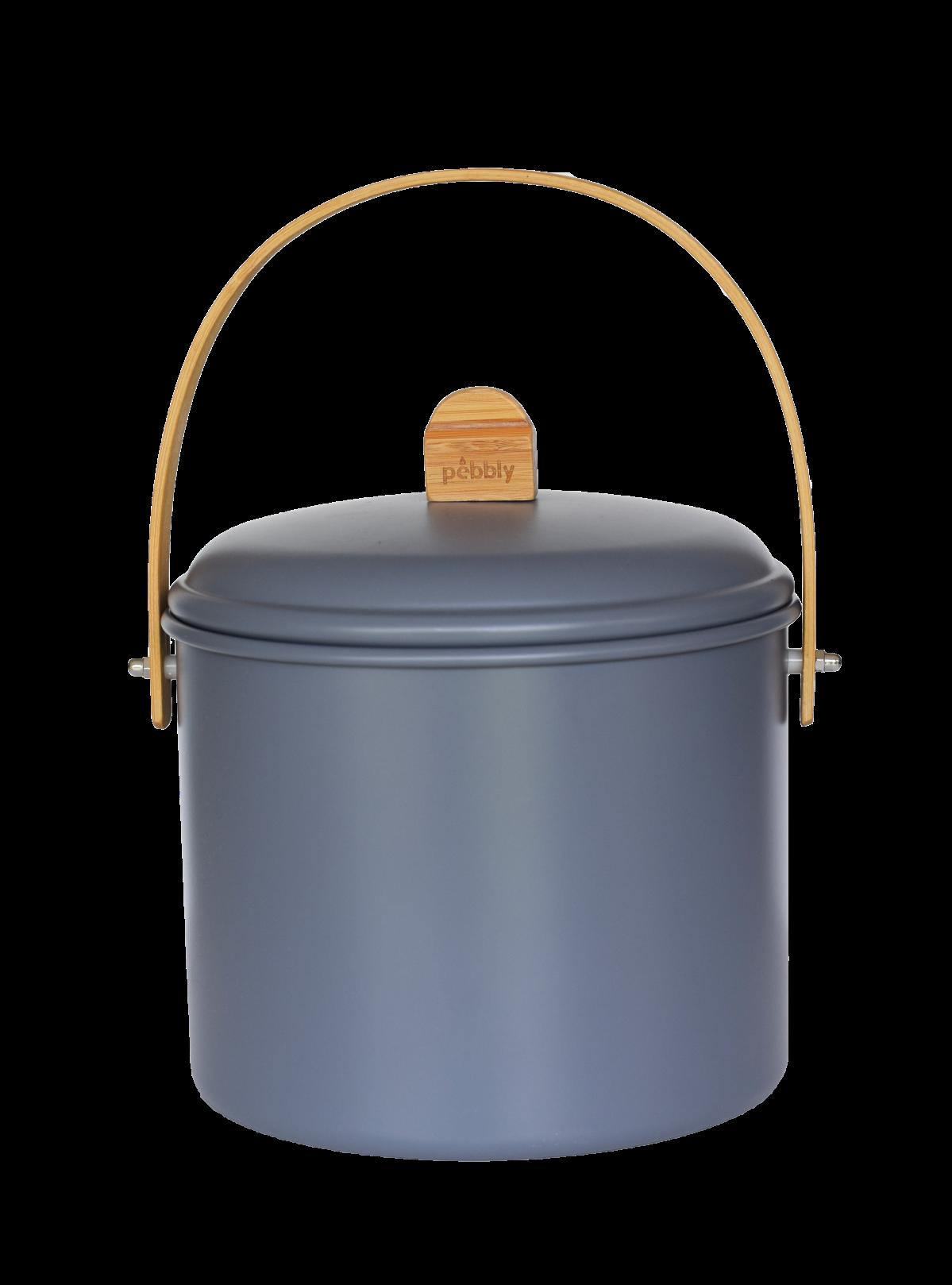 Seau à compost d'intérieur ardoise