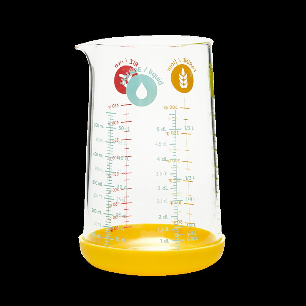 Verre mesureur 500 ml - jaune
