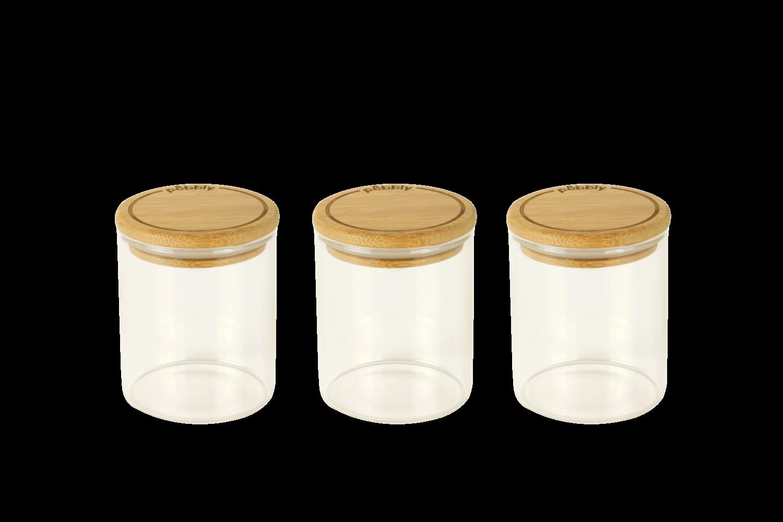 Set de 3 boîtes à épices en verre - 190ml