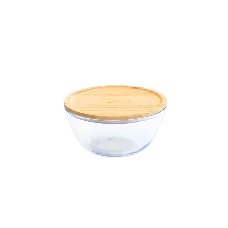 Bol à mixer rond -  avec couvercle en bambou - 0,77 L