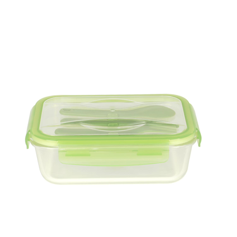 Lunchbox nomade en verre 1,2 L avec couverts en plastique