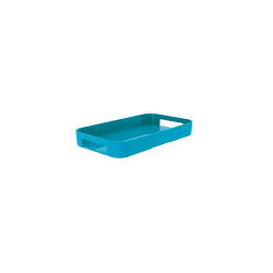 GALLERY - Plateau rectangulaire XS - bleu aqua