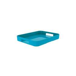 GALLERY - Plateau rectangulaire S - bleu aqua