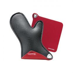 Set cuisson : gant à four et manique - rouge