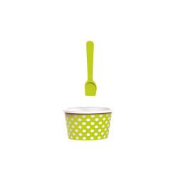 ICE CREAM - Set bol & cuillère à glace - vert/blanc