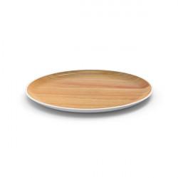 OSMOSE - Assiette ronde - Hêtre/Blanc
