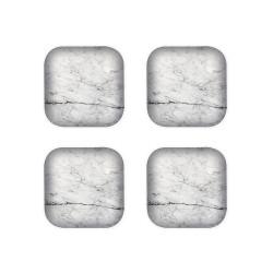 OSMOSE - Set de 4 sous-verre - Marbre/Blanc