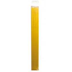 Pailles jetables L - 29.5 cm - Jaune (15 par boîte)