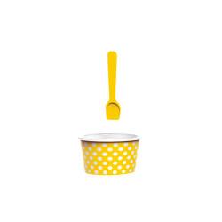 ICE CREAM - Set bol & cuillère à glace - jaune/blanc