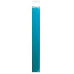 Pailles jetables L - 29.5 cm - Bleu Aqua (15 par boîte)