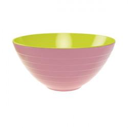 Saladier Wave - Ø 28 cm - Rose/Vert Kiwi