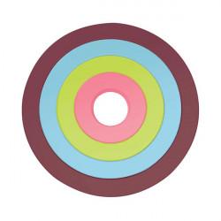 Set de 4 dessous de plat circulaires emboîtables - Chestnut