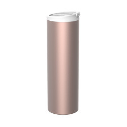 ON-THE-GO - Mug isotherme double paroi en inox 45 cl - rosé
