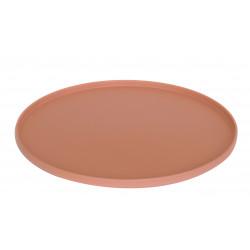 MONO - Plat rond 32 cm - terracotta