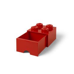 Brique de rangement 4 à tiroir - rouge